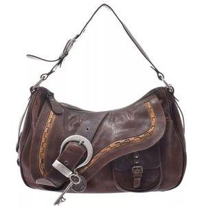 Authentic Christian Dior gaucho saddle bag
